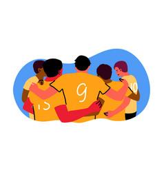 sport teamwok celebration winning concept vector image