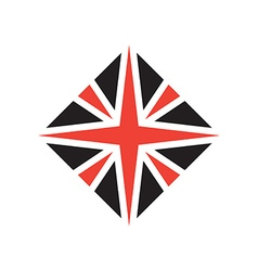Stylized British flag icon or design element vector