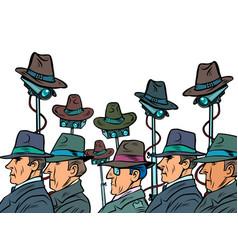surveillance spy total video surveillance secret vector image