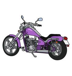 the purple heavy motorcycle vector image