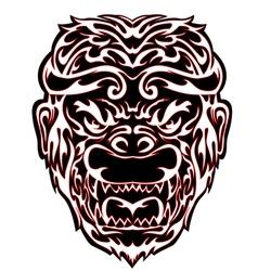 Tribal Monkey head vector