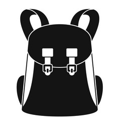 Universal backpack icon simple style vector
