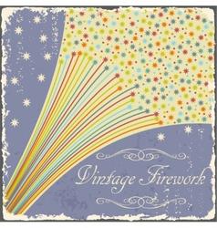 Vintage fireworks poster design Retro flyer vector image