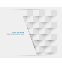White squares Abstract backround vector