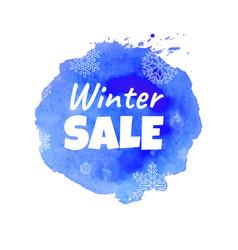 winter sale blot vector image
