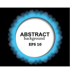 abstract blue circle vector image vector image