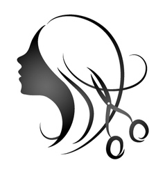 Design for womens hairdressing salon vector image vector image