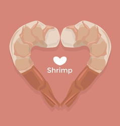 Love Shrimp vector image vector image