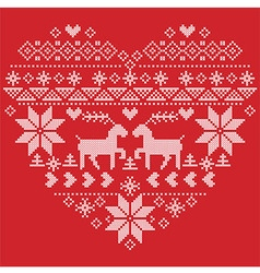 Scandinavian Nordic winter stitch knitting vector image