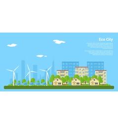 eco city 2 vector image vector image