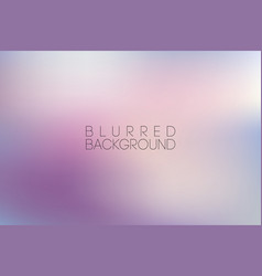 horizontal wide pink blurred background vector image