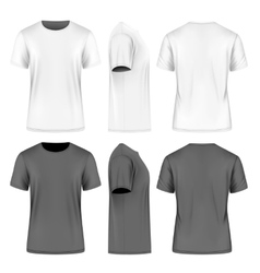 Men short sleeve t-shirt vector