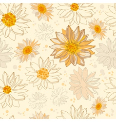 pattern flowers vector image vector image