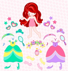princess dress up vector image