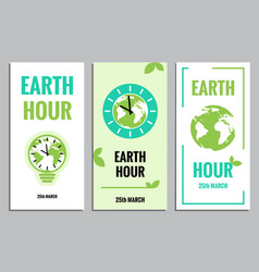 template of earth hour or daylight saving vector image vector image