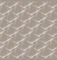 White grunge grid on a beige background vector