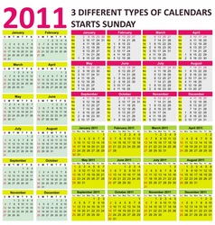 2011 calendars vector image