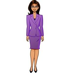 Attractive Businesswoman vector image vector image