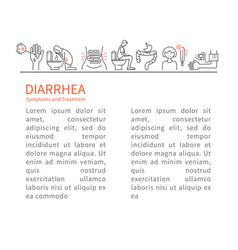 diarrhea symptoms and treatment leaflet vector image