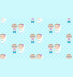 hipster wedding seamless pattern vector image vector image