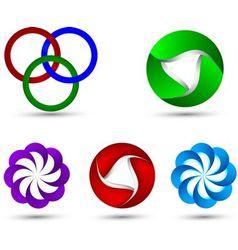 Logo 3d design set vector image