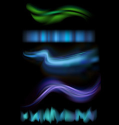 northern aurora lights vector image