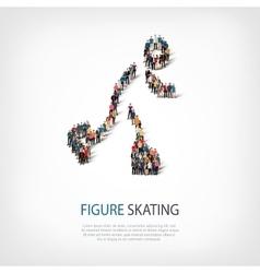 people sports figure skating vector image
