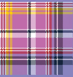 pink purple plaid pixel texture fabric seamless vector image vector image