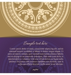 Round oriental ornament card in vintage style vector image vector image