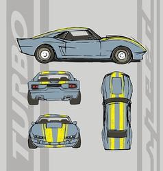 speed car turbo vector image