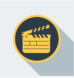 cinema clipboard icon vector image