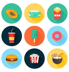 Food icons vector image vector image