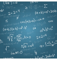 Mathematical formulas seamless pattern on vector image vector image