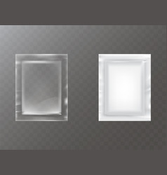 plastic packets realistic vector image vector image