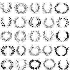 set of 25 wreaths vector image