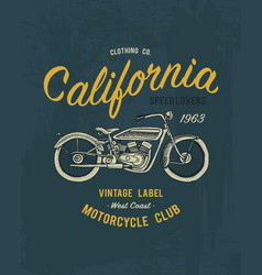 tee print motorcycle or transport t-shirt vector image