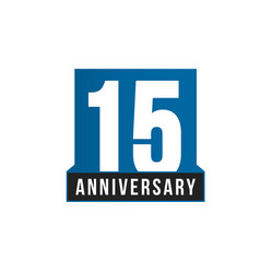 15th anniversary icon birthday logo vector image
