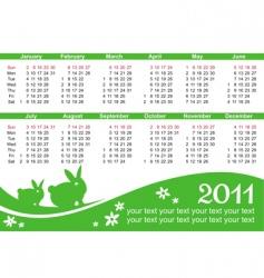 2011 calendar vector image