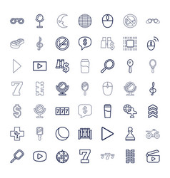 49 reflection icons vector