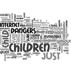 A dangerous environment text word cloud concept vector