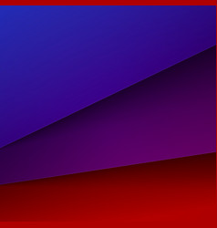 Abstract background with red blue and purple paper vector
