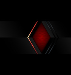 Abstract banner template design black and red vector