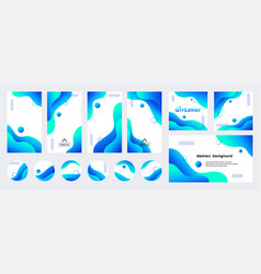 Abstract blue liquid trendy backgrounds vector
