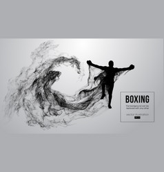 Abstract silhouette of a boxer mma ufc fighter vector