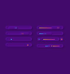adjustment panel ui elements kit vector image