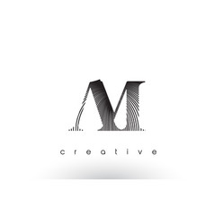 Am logo design with multiple lines and black vector