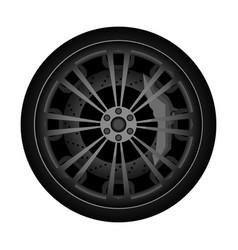 Automobile titanium rim icon vector