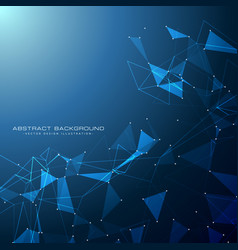 Blue technology digital background with triangle vector