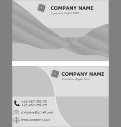 business card set template visit brochure green vector image