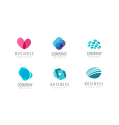 business icon company logo or symbol vector image